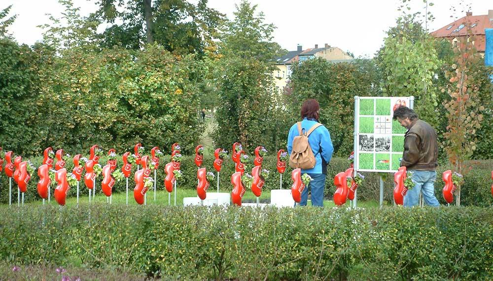 rondleiding door partnersteden tuinen op de buga in gera