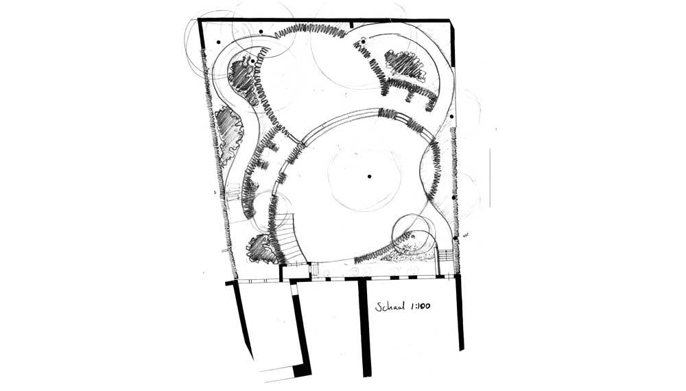 potloodschets tuin theatermuseum