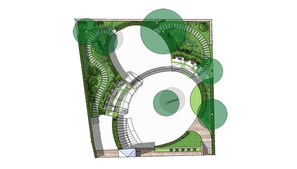 plattegrond ontwerp tuin theatermuseum amsterdam