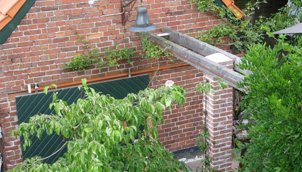 foto pergola vanaf de eerste verdieping genomen.